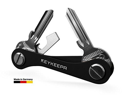 keykeepa-La Chiave Organizer e manager Made in Germany-per fino a 16tasti, Apribottiglia e un anello per chiavi auto, black (nero) - KK-AL-SW-ORIG