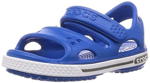 Crocs crocband ii kids, sandali con cinturino alla caviglia unisex-bambini, blu (bright cobalt/charcoal 4jn), 22/23 eu