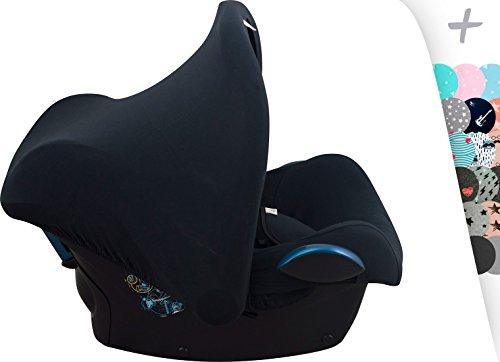 Janabebe Universal Verdeck / Dach für Maxi Cosi/Babyschale Gruppe 0+ als Sonnenschutz / Windschutz / SonnenDach / Sonnenverdeck (Black Series)