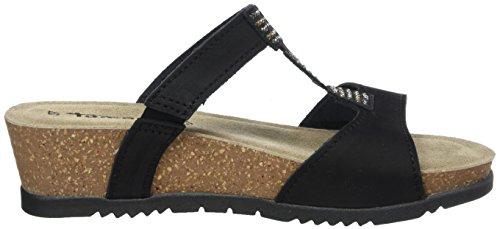 Tamaris Damen 27214 Offene Sandalen mit Keilabsatz Schwarz (Black 001)