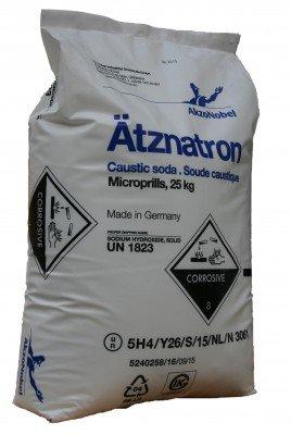 Purux Ätznatron 25kg Akzo Nobel, Natriumhydroxid NaOH Ätzsoda
