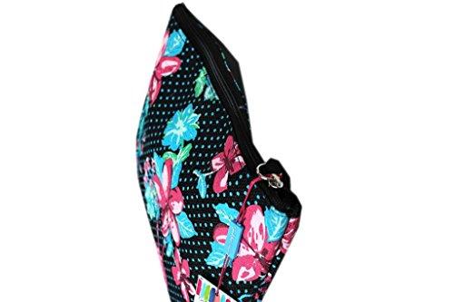 Borsetta mare sottobraccio Gian Marco Venturi l.fiori moda mare 43424 nero