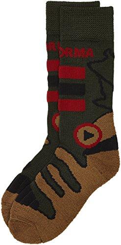 Enforma Men's Compression Socks Trekking extrêmement Coton Large Multicolore - Mehrfarbig - Khaki
