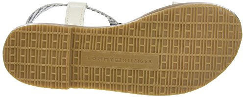 Tommy Hilfiger S3285asha 4a, Tongs Fille Blanc Cassé (Whisper White)