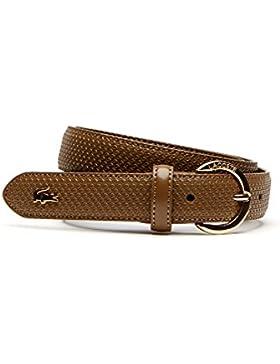 Lacoste Women's Chantaco Women's Brown Leather Belt 100% Leather