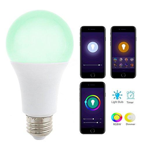 1x E26 Smart Dimmbare Glühbirne WIFI APP Fernbedienung LED Farbwechsel Lampe RGB