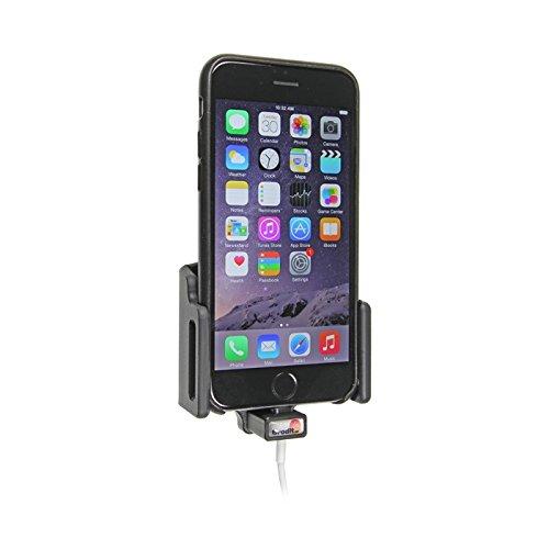 Brodit Gerätehalter Apple iPhone 6 mit Applehülle, verstellbar und Kabelaufnahme für Original Lightning Kabel