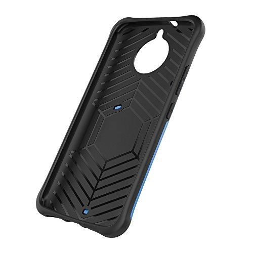 Heavy Duty Armor Denfender Back Cover 360 ° Drehbarer Stand Shockproof Case 2 in 1 PC + TPU Shell Cover für Motorola Moto G5s ( Color : Silver ) Blue