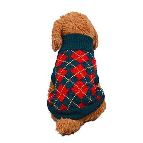 Pet Kostüm Weihnachten Holiday - LAWOHO Hunde Sweater Pet Warm Classic Strickwaren Kostüm Holiday Festival Weihnachten Winter Outfit Kleidung Hemd Bekleidung für Hunde Welpen Katzen, XXL Rot