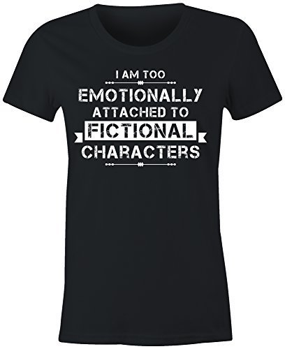 ladies-fitted-im-too-emotionally-attached-to-fictional-characters-t-shirt-black-large-