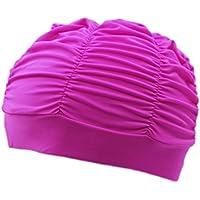 2352b91f1b93 BienBien Donna Cuffie da Bagno con Fiori Moda Cuffia Nuoto Tessuto  Protettiva da Bagno Cappello per