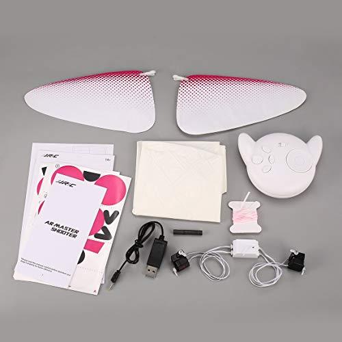 (Funnyrunstore JJR / C H80 Qbo Fly 2,4G RC Sichere Fernbedienung Aufblasbare Helium Ballon Baymax Dance Roboter Spielzeug für Kinder Kinder Geschenk (weiß))