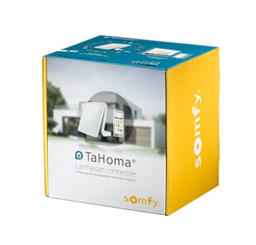 413KaOmKYWL [Bon Plan Netatmo] Somfy 2401354 - TaHoma Box Maison Connectée | Box Domotique compatible IO, RTS & Multiprotocoles & Multimarques | Compatible Alexa, Google Home | Pilotage à distance | Sans abonnement