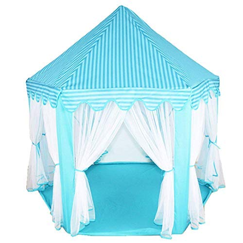 Goodup Kids Princess Castle Play House Girls Boys Hexagon Play Tent Game  Tent Foldable Children Kids Fairy Princess Castle Tents Playhouse Outdoor