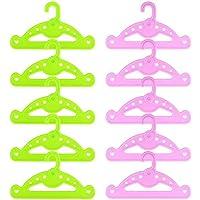 ZITA ELEMENT 10 Pezzi Vêtements Poupée Cintre pour 18 Pouces Poupée Américaine, Bébé Poupée, et d'autres 14 - 18 / 35…