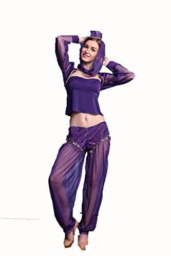 LIUYU Einheitliche Club Mesh Sexy Arabische Bauchtanz Indien Tanz Mädchen Sexy (Schönheit Arabische Sexy Kostüme)