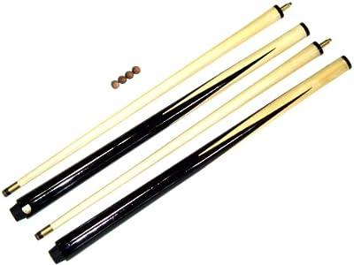 SGL - Juego de tacos de billar (2 tacos de 91,4cm, se incluyen 4 punteras)