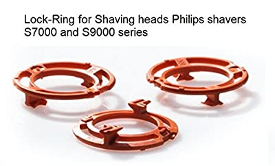 Lock-Ring (Retaining-Plate, Holder) for Philips Shaving Heads Model/Type SH70 and SH90 (Colour Orange). Shaver Series S7000 S9000