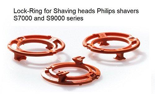 Sicherungsring (Halterung, Platte) für Philips Scherköpfe Model SH70 und SH90 (Farbe orange)