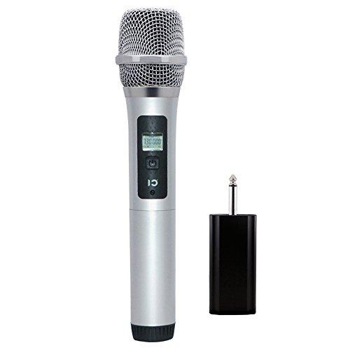 Microfono wireless palmare, microfono dinamico per voce UHF per amplificatore esterno per attività di intrattenimento per matrimoni, riunione al coperto, registrazione karaoke