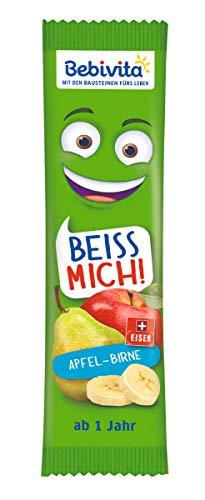 Bebivita Früchte-Riegel, Beiss Mich Apfel-Birne, 20er Pack (20 x 25 g)