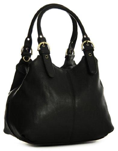 Big Handbag Shop, Borsa a mano donna Nero (nero)