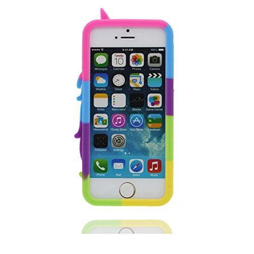 iPhone 5S Hülle, [ flexibles TPU materielles Einhorn unicorn Soft ] Handyhülle für iPhone 5G 5 SE 5C, Staub-Beleg-Kratzer beständig, haltbare weiche case Farbe 1