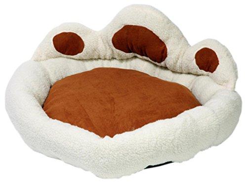 hundeinfo24.de dobar 60408 Hundebett, Hundesofa oder Katzenbett aus sehr weichem Stoff plus Plüschumrandung zum Einkuscheln, Größ?e XXL, 110 x 110 x 50 cm