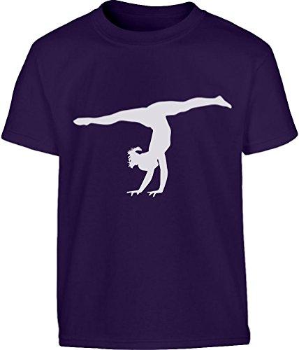 Shirtgeil Silouette di ginnasta Regalo per Fans. Maglietta per Bambini e Ragazzi