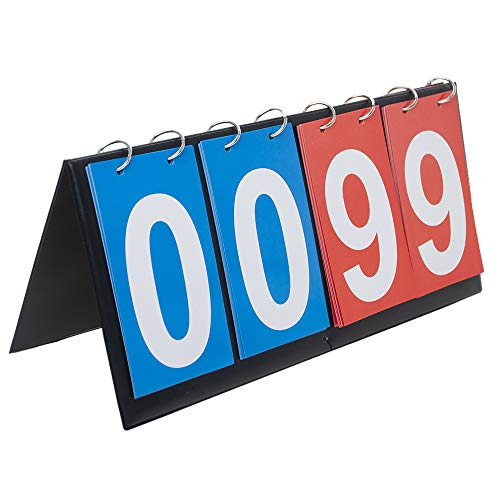 GOGO 4-digital Tragbare Tisch-Anzeigetafel/Punktflipper 0-99