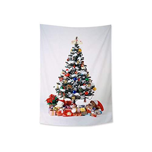 Jancery Wandteppich mit Weihnachtsbaum-Motiv, Polyester-Stoff, für Neujahr, Schlafzimmer, Wohnzimmer, Weihnachtsdekoration, Zubehör