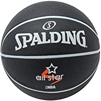uhlsport Spalding All Star NBA - Balón de Baloncesto para Hombre, Color Negro, 7
