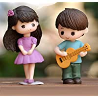 P S Retail Sweety Lovers- Guitar Couple Figurine Miniature - Style 37 (2 pcs/Set)