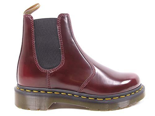 Dr. Martens Unisex-Erwachsene Vegan 2976 Chelsea Boots, Burgunderrot, 40 EU