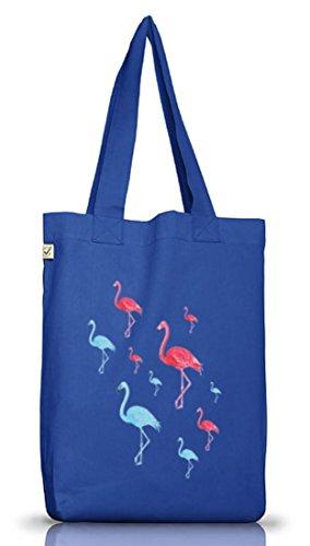 Fasching Karneval Urlaubs Hawaii Jutebeutel Earth Positive Flamingo Vice Bright Blue