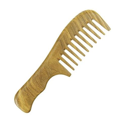 Sandalwood Hair Comb No Static Natural Detangling Haircomb Handmade Massage