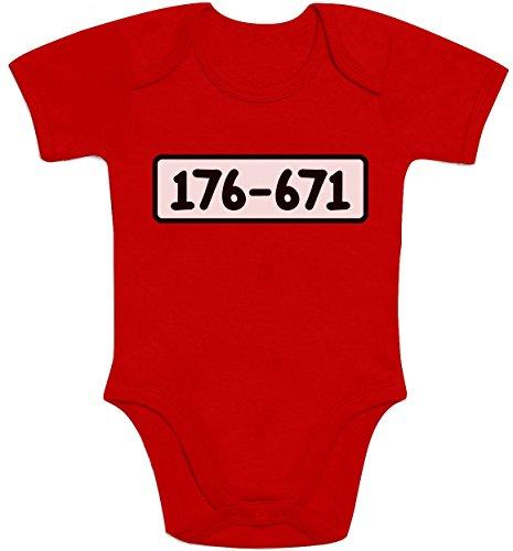 ker Banditen Bande Kostüm Baby Body Kurzarm-Body 12M Rot ()