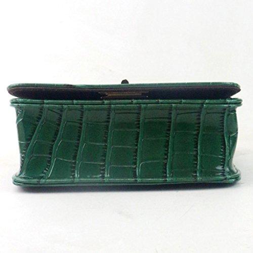 Catena crossbody borse, donne messaggero spalla borsa pu pelle signore piccole frizioni catena crossbody sacchetti Tote by Kangrunmy Verde