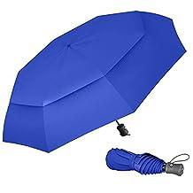 Paraguas Plegable Automático De Viaje Procella – 100% Impermeable Antiviento Compacto Apertura Y Cierre Automático