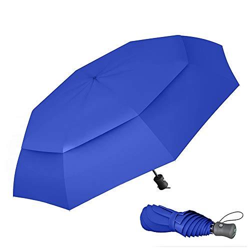 Taschenschirm Von Procella - Kompakt Regenschirm Sturmfest, 106cm - Praktische Automatik Zum Öffnen Und Schließen - Zusammengeklappt Nur 27,9 cm lang - Getestet Bei Windstärken Von 74km/h - Royal Blau