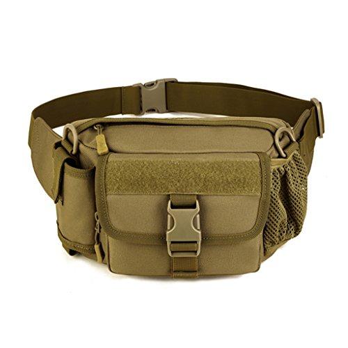 Cinmaul Tactical marsupio militare spalla sport borsa zaino per campeggio escursionismo, Uomo, Orange Coyote Brown