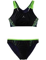 TECNOPRO Mujer Bikini rilea Negro/Verde, black/green lime, 38
