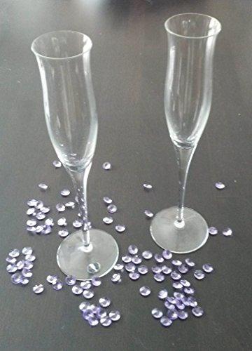 300 lila - flieder Dekosteine Diamanten für Hochzeit 12 mm Tischdeko Tautropfen vom Sachsen Versand