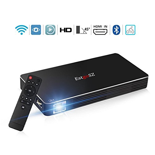 UKSoku Mini Portable DLP Video WIFI Beamer,100ANSI Lumen Android 4.4 Heimkino Projektor Unterstützung 1080P HD 2,4G/5,8G Dual WIFI Bluetooth für Movie Game Business Im Freien mit Stativ - Full Halloween 1 Movie