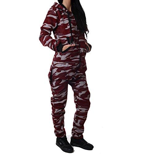 suit Camouflage Warm, Weich und Kuschelig CA 2850(M, Bordeaux) (Beste Onsies)