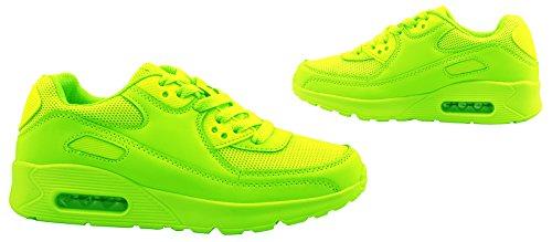 Sport Femmes et Hommes Chaussures rangers Chaussures de course profil semelle Baskets Vert