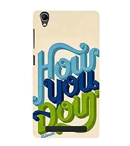 Fuson Designer Back Case Cover for Intex Aqua Power Plus :: Intex Aqua Power + (How You Doing Theme)