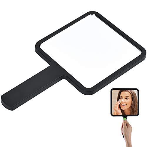 Cococity Espejo de mano portátil de bolsillo con ranura para colgar estilo sencillo para maquillaje...