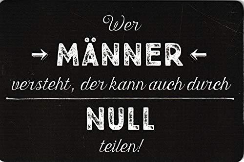 3er-Packung: Kühlschrankmagnet Sprüche & Humor Wer Männer versteht, der kann auch durch Null teilen!