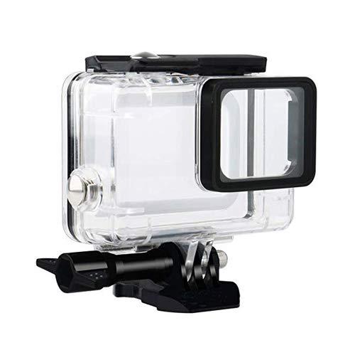 flycoo Custodia Custodia impermeabile per GoPro Hero 7Black/Hero 5/Hero 6fotocamera d' azione chiaro con viti di fissaggio e base protezione subacquea 45M